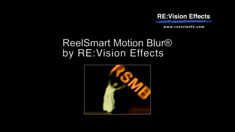 ReelSmart Motion Blur Overview for Effects